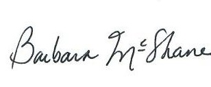 Signature of Barbara McShane