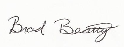 Signature of Brad Beatty