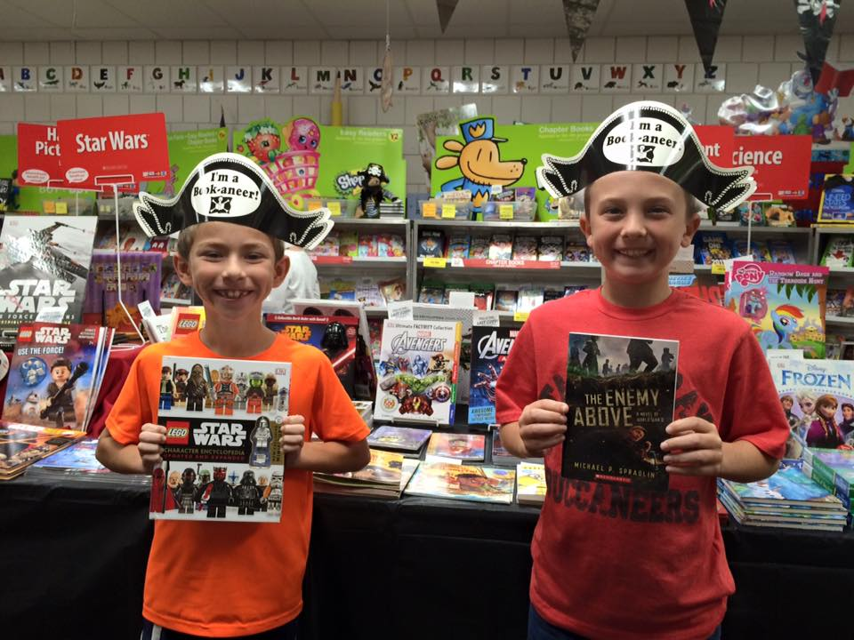students in the book fair