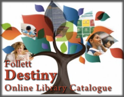 Destiny Icon to click to get to Dwight's online library catalog