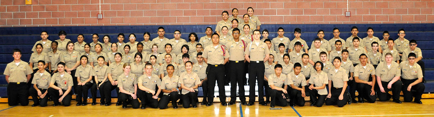 Picture of NJROTC students.