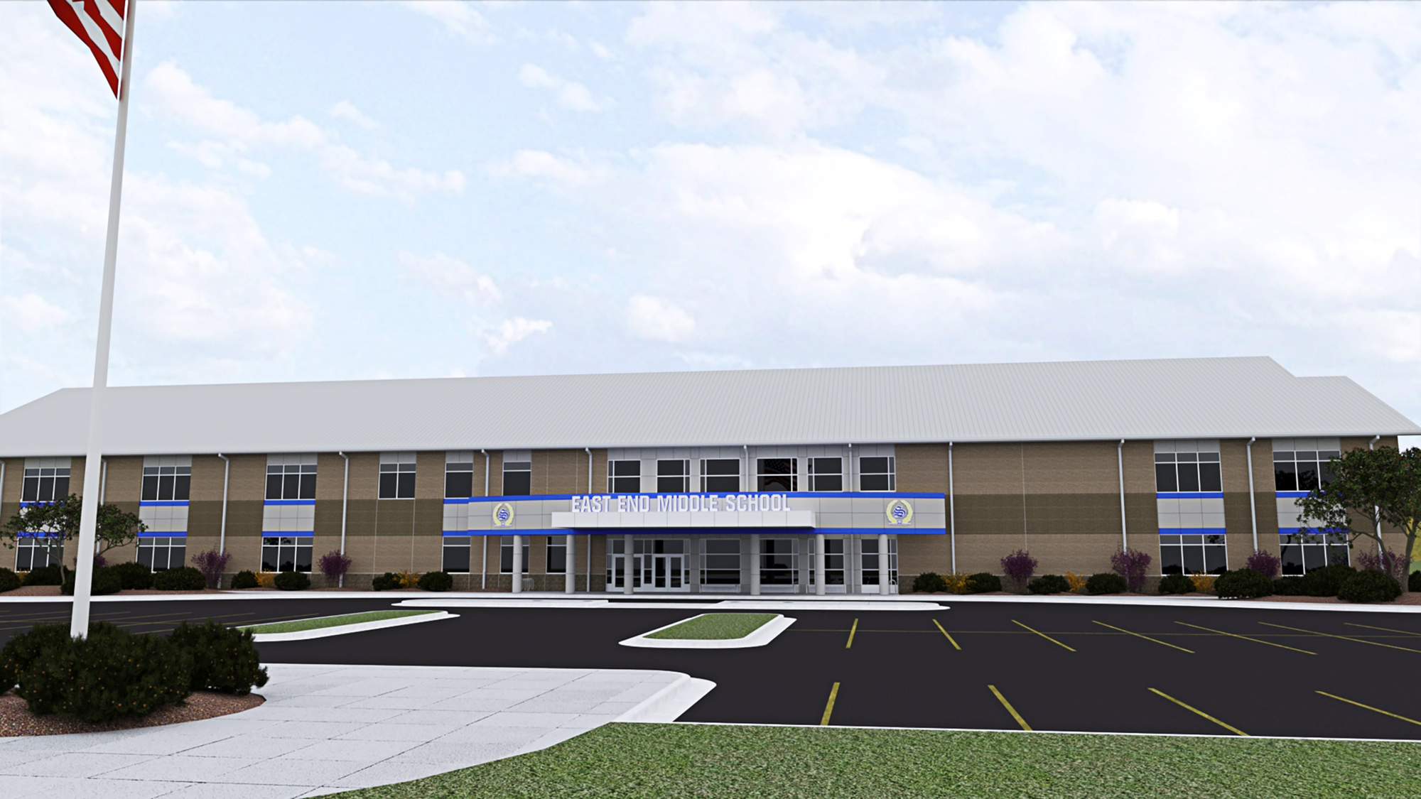 Rendering of the new East End Middle School to be built in 2019