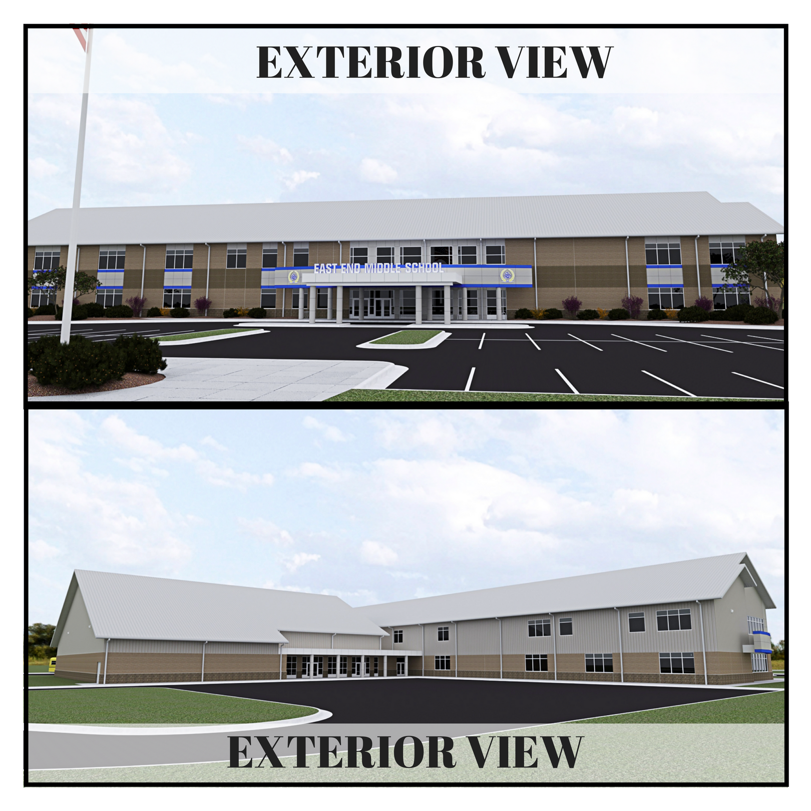 Exterior Renderings for the New East End Middle School