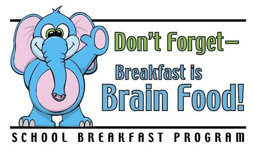 Breakfast is brain food logo