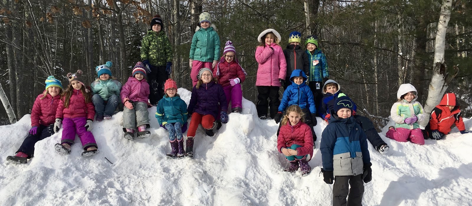 Recess in the snow.