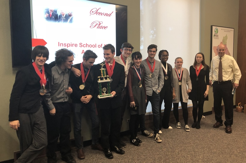 Inspire School of Arts Academic Decathlon team