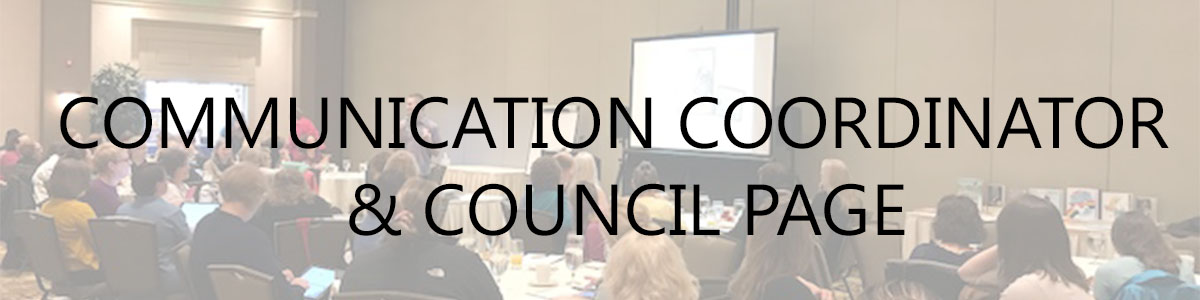 communication council and coordinator page