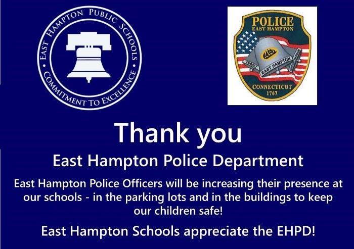 Thank you to East Hampton PD