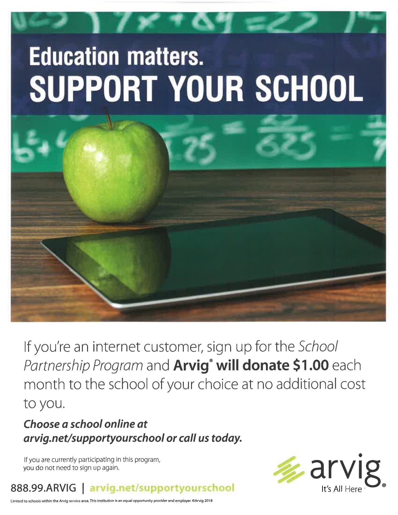 Arvig School Partnership Program