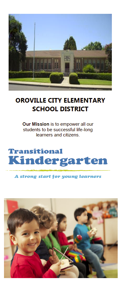 Transitional Kindergarten Brochure