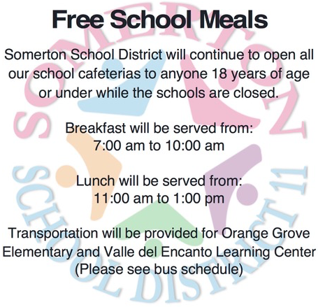 Somerton District Food Service Meals