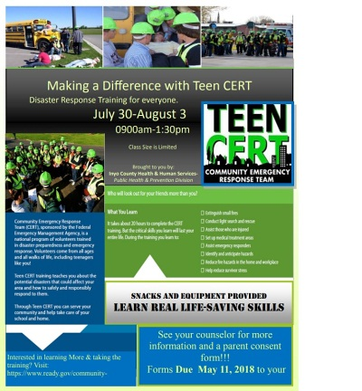Cert Teen Flyer