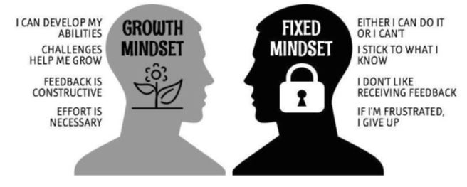 Image: Growth Mindset vs Fixed Mindset