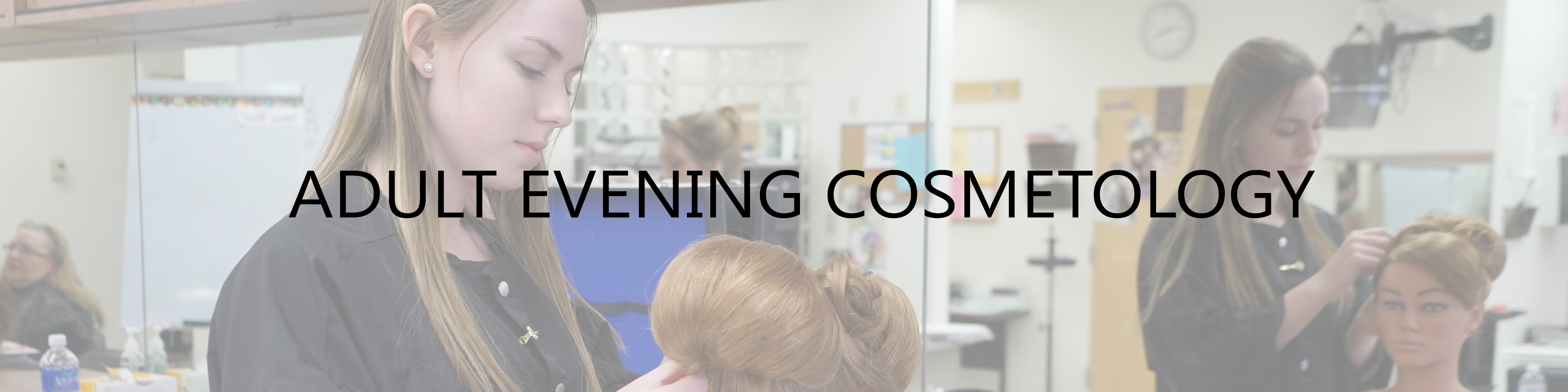 Adult Evening Cosmetology woman cutting hair