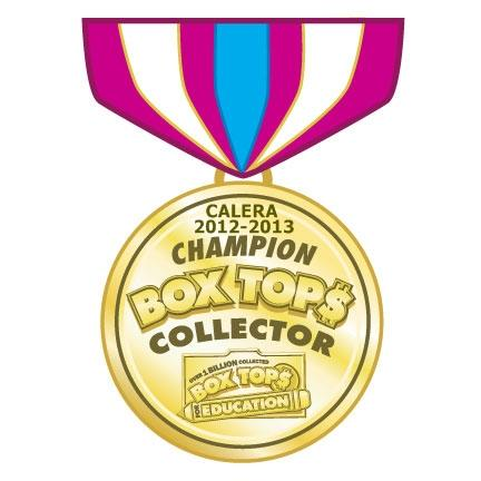 Calera 2012-13 Box Top Collector Champion, Box Tops for Education
