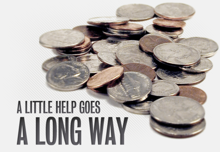 A little help goes a long way coins