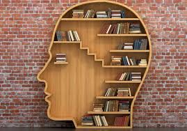 Image: Head filled with books