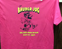 T-shirts: bauder jog 5k/10k Run/walk May 17,2014