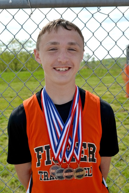 Dalton Burk earned 4 medals at the IESA State Track Meet