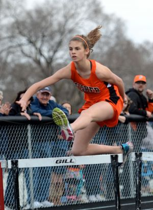 Alexis Hallden showing pretty good form over those hurdles!