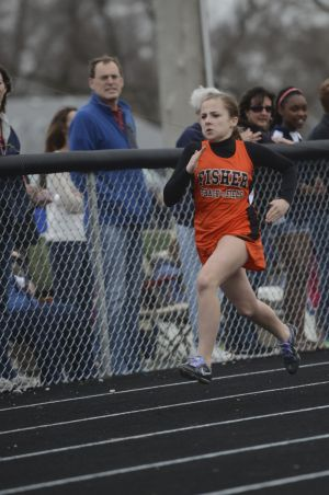 Jesse Ottney showing determination in her race