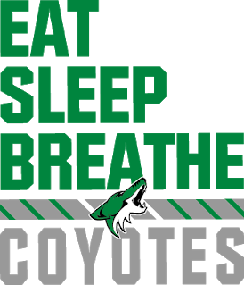 Eat, sleep, breath, coyotes flyer