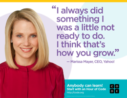 Marissa Mayer Hour of Code Quote