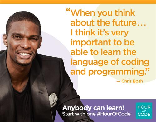 Chris Bosh Hour of Code Quote