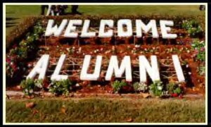 welcome alumni sign