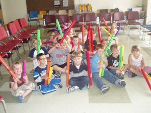 kids with boomwhackers