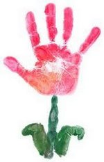 Painting of a hand flower