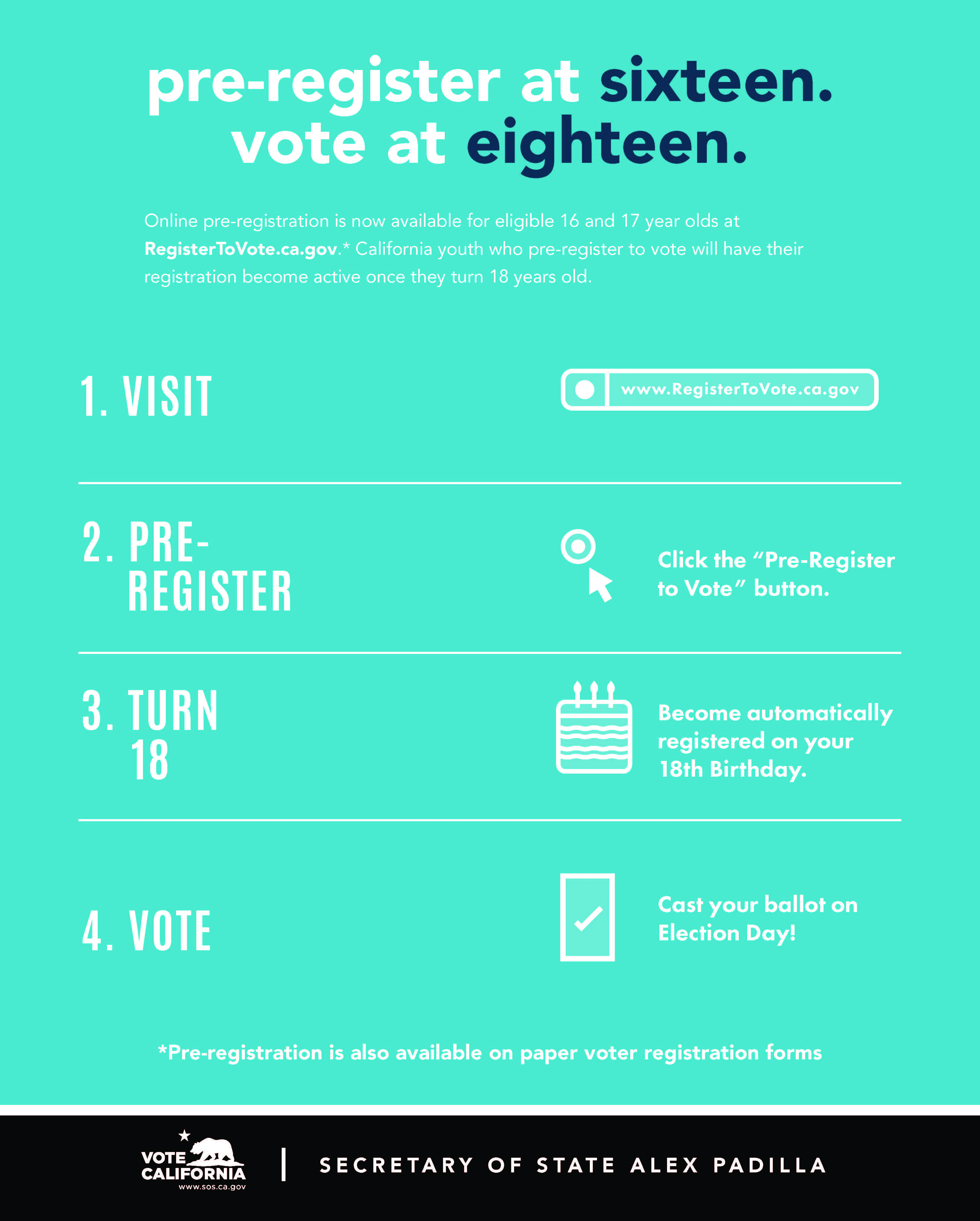 a layout of how to pre-register to vote before you're 18