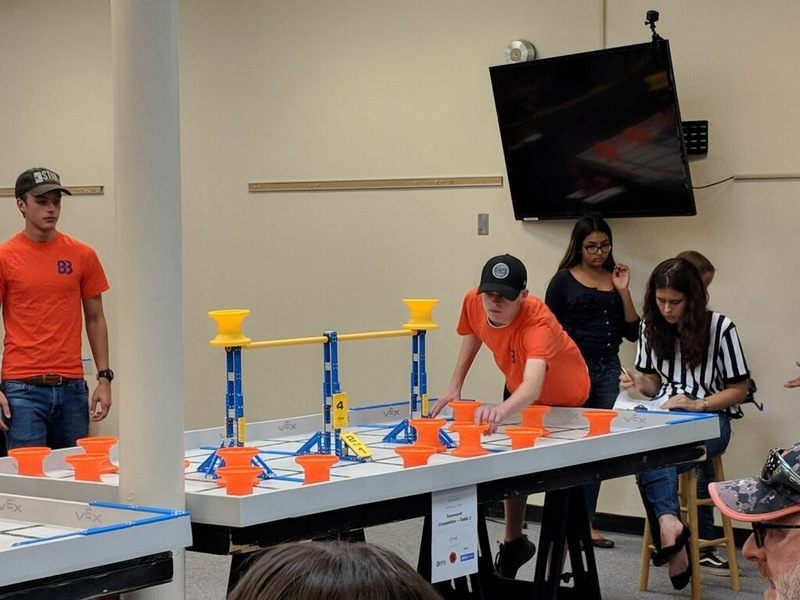Kids Competing in VEX Competition