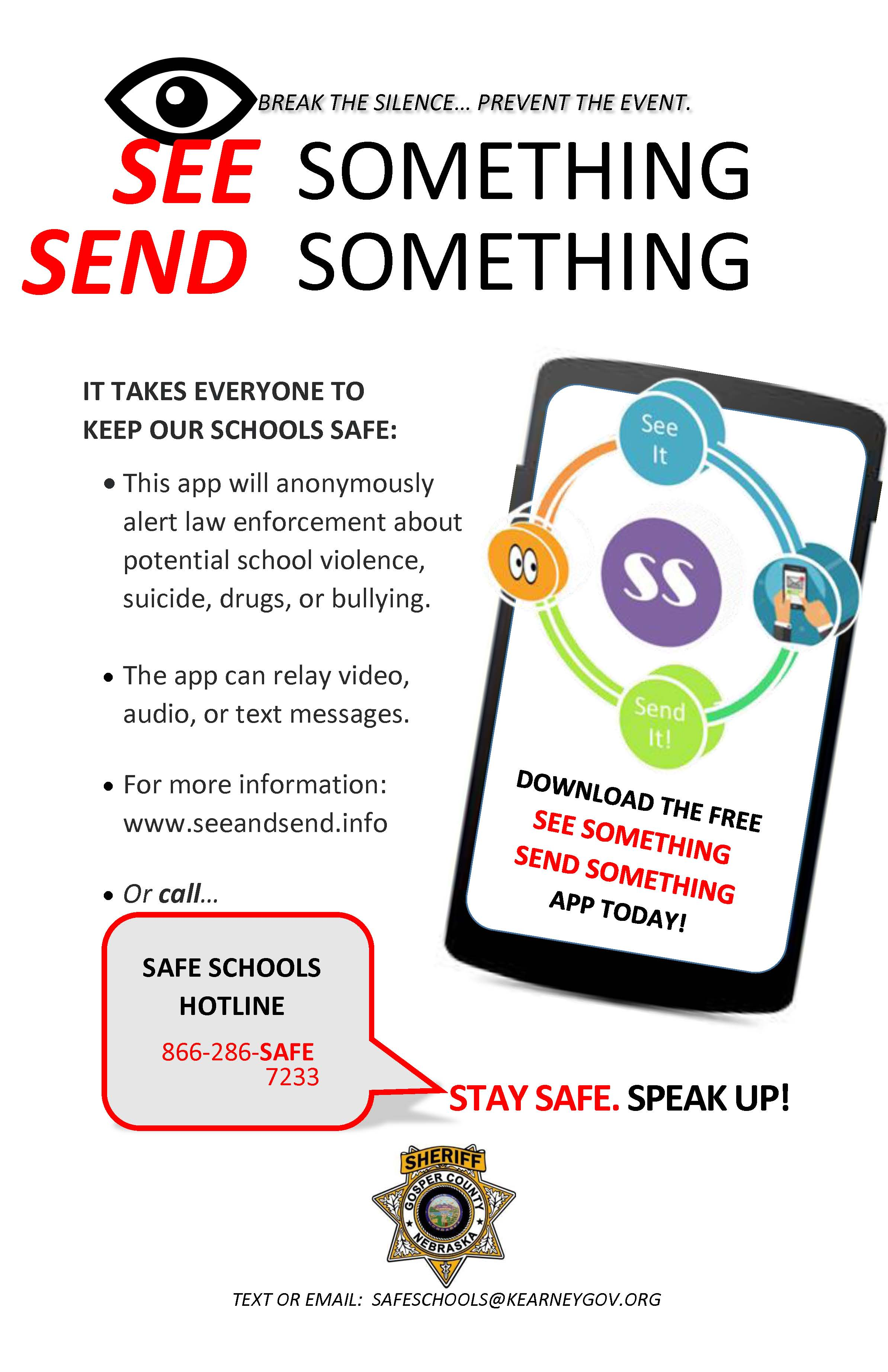 See Something, Send Something - A new app from the Gosper County Sheriff's Office