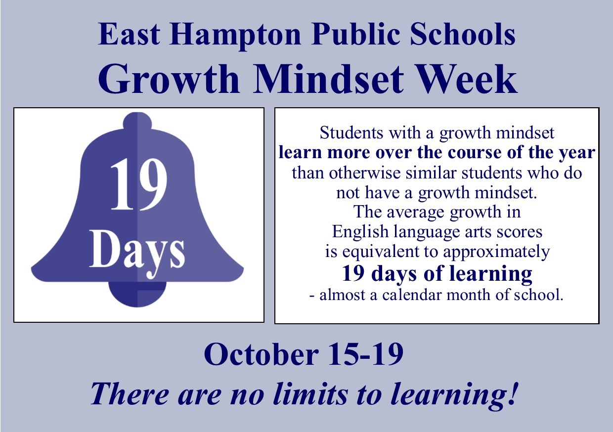 Image: 19 Days Growth Mindset week