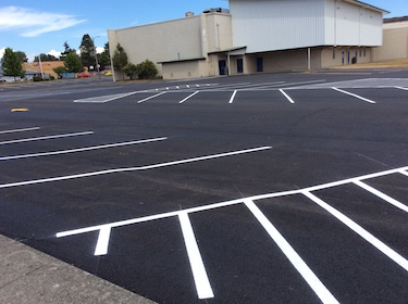 Parking Lot Resurfaced