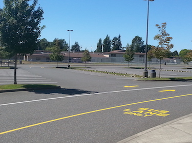 Center Parking Lot Restriped