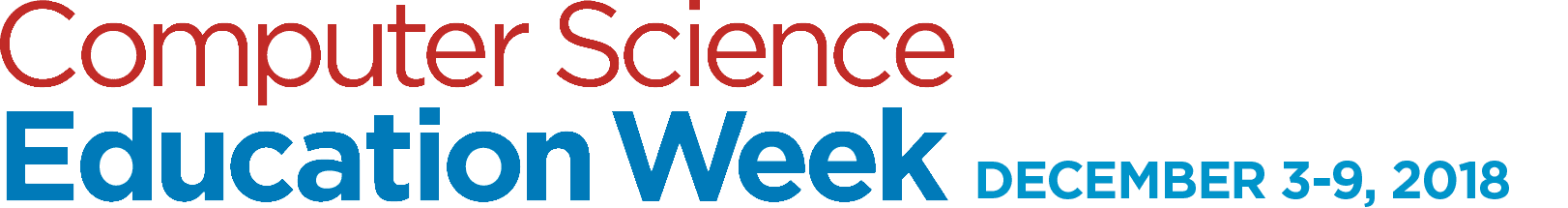 Computer Science Education Week December 3-9, 2018