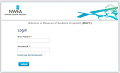 A photo of the NWEA Login Screen