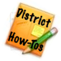 "A photo that reads ""District How twos"""