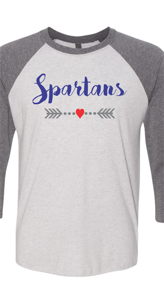 1541687857-grey_baseball_shirt_with_spartans_text_and_arrows_with_a_heart