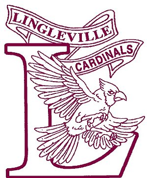 A photo of the Lingleville Cardinals logo