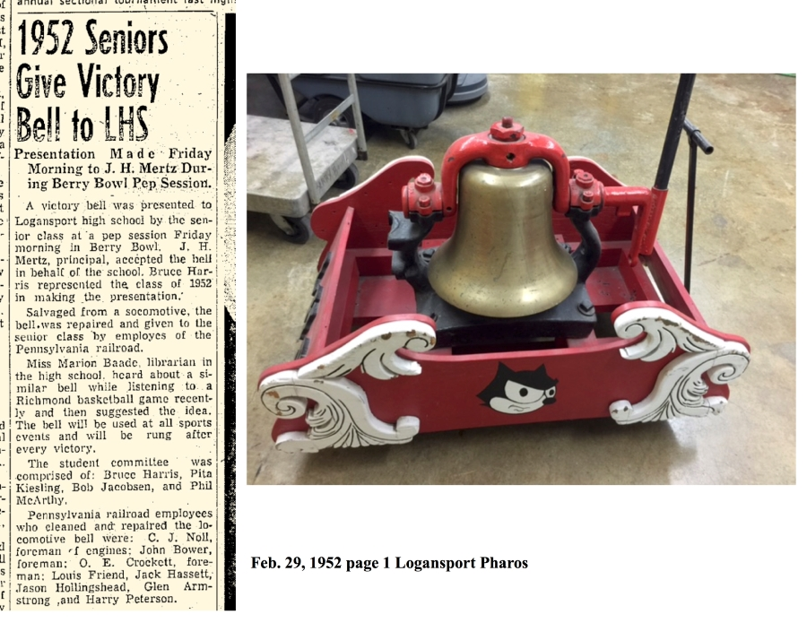 LHS Victory Bell & Small newspaper article
