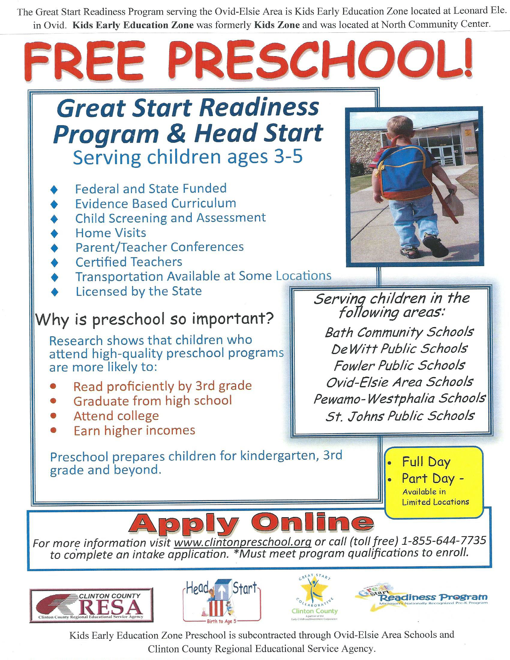 Clinton Preschool Flyer