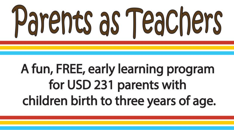A fun, free, early learning program for USD 231 parents with children birth to three years of age!