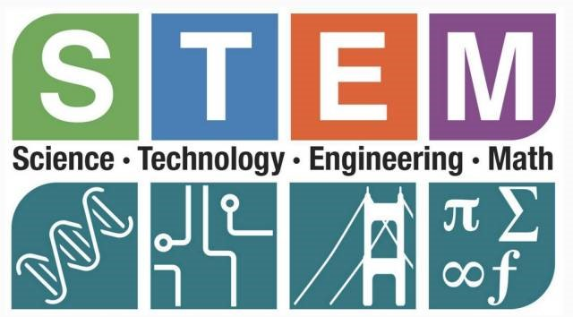 Image:  STEM Science, Technology, Engineering & Match graphic