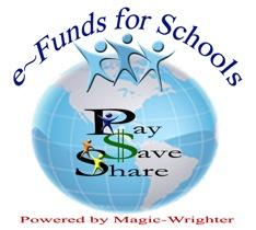 e-Funds for Schools - Pays, Save, Share Logo