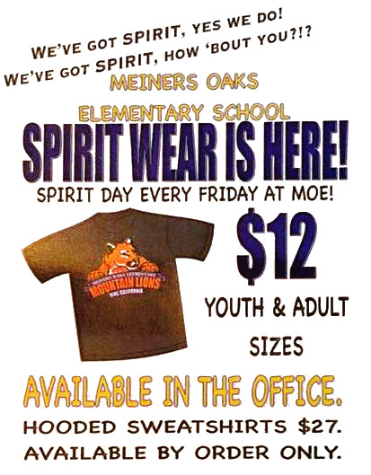 Don't forget to buy your spirit wear!