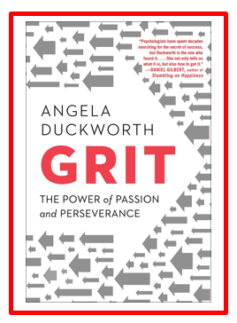 Image:  Book Cover of Grit by Angela Duckworth