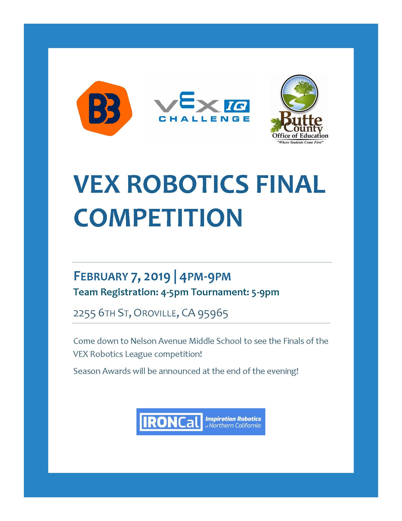 VEX Robotics Final Competition Flyer